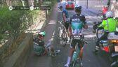 Kolizja Chrisa Froome'a podczas 2. etapu Volta a Catalunya
