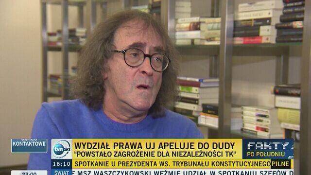 """Rada Wydziału Prawa UJ apeluje do Dudy. """"Powstało zagrożenie dla niezależności TK"""""""
