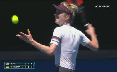 Skrót meczu Keys - Switolina w 4. rundzie Australian Open