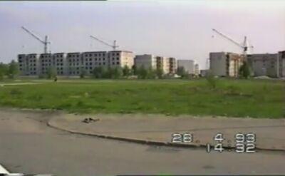 Budowa wieży telewizyjnej na Piątkowie w 1993 r.