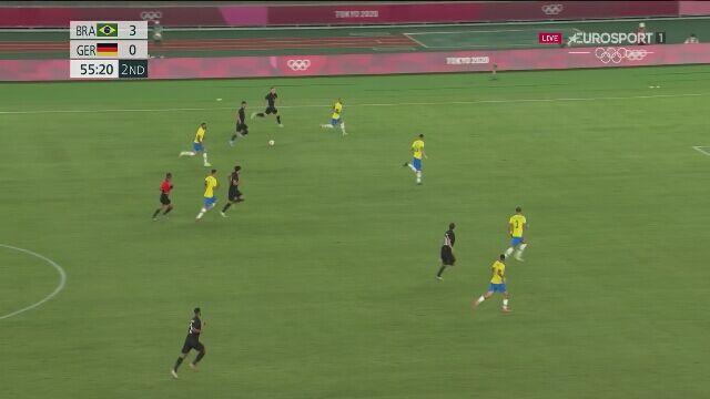 Tokio. Piłka nożna mężczyzn. Brazylia - Niemcy 3:1 (gol Amiriego)