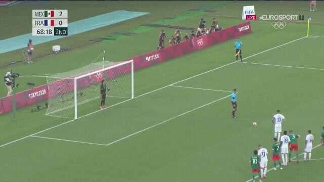 Tokio. Piłka nożna mężczyzn. Meksyk - Francja 2:1 rzut karny (gol Andre-Pierre Gignac)
