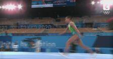Skok 46-letniej Oksany Chusovitiny na igrzyskach w Tokio