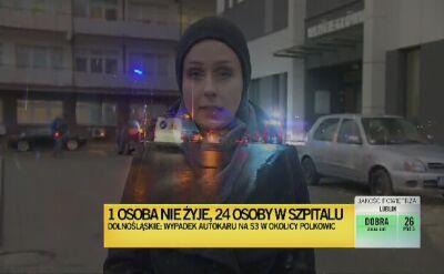 Wypadek autokaru na Dolnym Śląsku