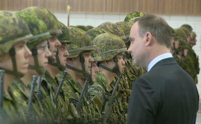 Andrzej Duda podziękował kanadyjskim żołnierzom