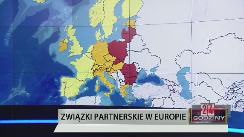 Tęczowa mapa Europy. Polska na czerwono