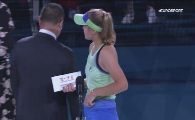 Przemówienie Sofii Kenin po triumfie w Australian Open