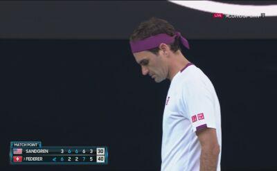 Piłka meczowa dla Federera w meczu z Sandgrenem