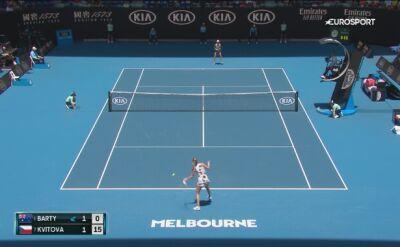 Skrót meczu Barty - Kvitova w 1/4 finału Australian Open