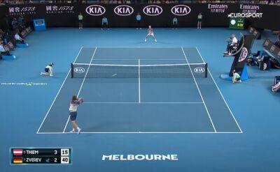 Skrót meczu Thiem - Zverev w półfinale Australian Open