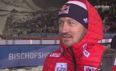 Adam Małysz po konkursie w Bischofshofen