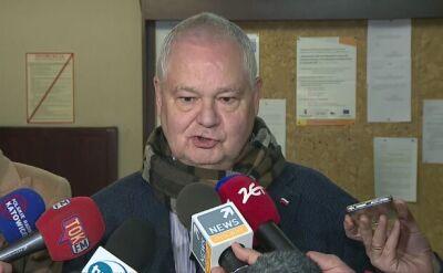 Prezes NBP Adam Glapiński po przesłuchaniu