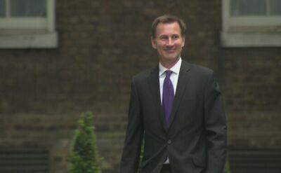 Szef brytyjskiej dyplomacji Jeremy Hunt