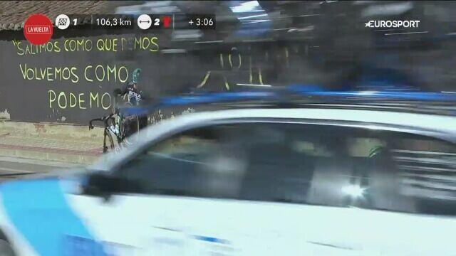 Kraksa z udziałem Hectora Saeza na trasie 9. etapu Vuelta a Espana