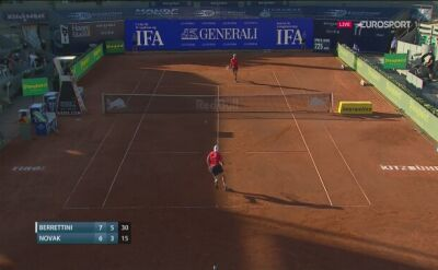 Matteo Berrettini pokonał Dennisa Novaka w meczu THIEM'S 7