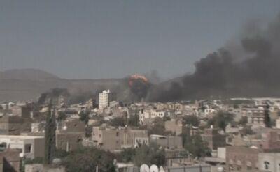 Bombardowanie przyczółków Huti w Jemenie