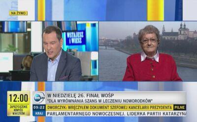 87-latka zbiera na WOŚP w Krakowie