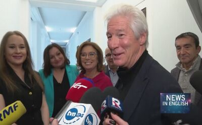 Richard Gere paid a visit to Polish parliament in Warsaw