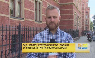 Sąd umorzył postępowanie w sprawie Jerzego Owsiaka
