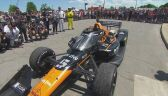 Pato O'Ward po wygraniu wyścigu IndyCar w Detroit