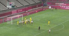 Tokio. Piłka nożna kobiet. Wielka Brytania - Australia gol na 3:4
