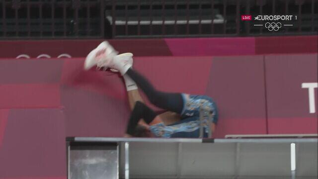 Tokio. Ofiarna obrona Facundo Conte w meczu Stany Zjednoczone - Argentyna