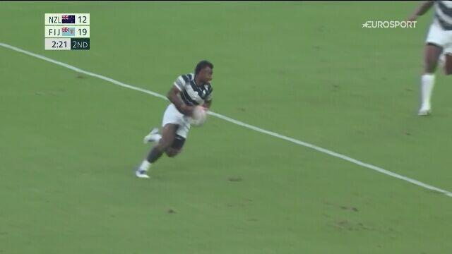 Tokio. Rugby 7. Radość reprezentacji Fidżi po obronie mistrzostwa olimpijskiego