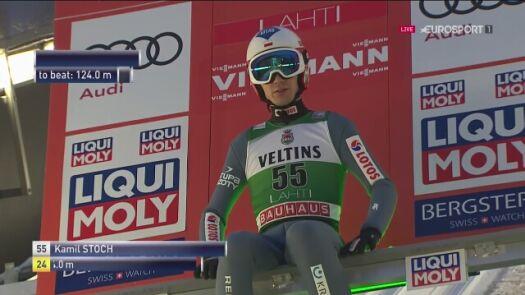 Drugi skok Kamila Stocha z niedzielnego konkursu w Lahti