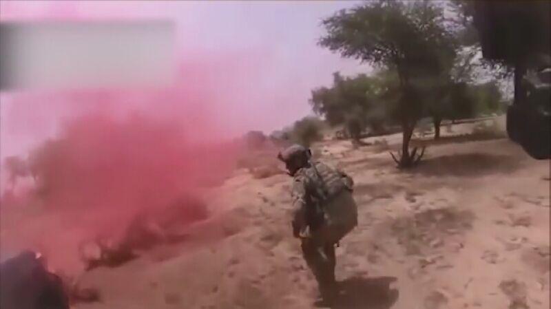 Nagranie z kamery na hełmie jednego z komandosów