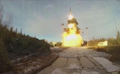 Odpalenie rosyjskiej rakiety balistycznej Topol