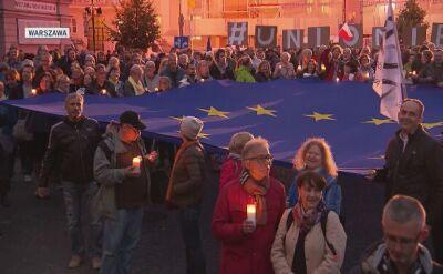 """""""Europo, nie odpuszcza"""". Manifestacje w obronie sądownictwa"""