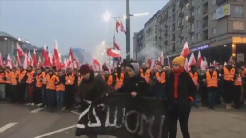 Próba blokady marszu