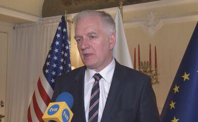 """Jarosław Gowin w rozmowie z """"Faktami"""" TVN o przyjęciu ustawy dotyczącej restytucji mienia ofiar Holokaustu"""