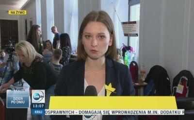 Protest opiekunów niepełnosprawnych w Sejmie