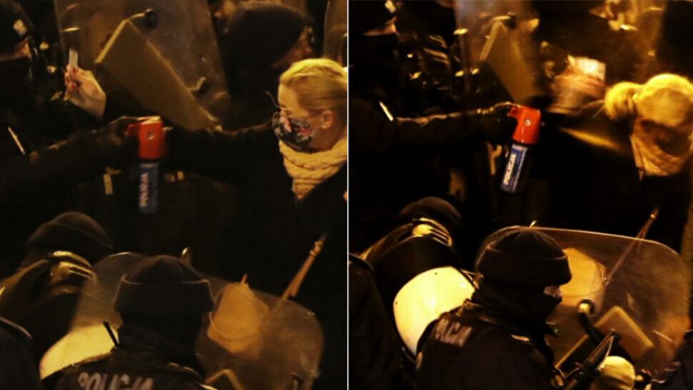 Barbara Nowacka potraktowana gazem podczas protestu