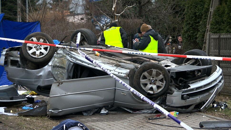 Tragiczny finał policyjnego pościgu. Dwie osoby nie żyją, dwie zostały ranne