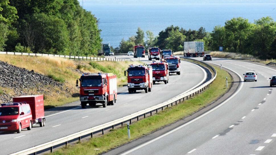 """Polska wysłała największy kontyngent strażaków do Szwecji. """"Można być dumnym"""""""