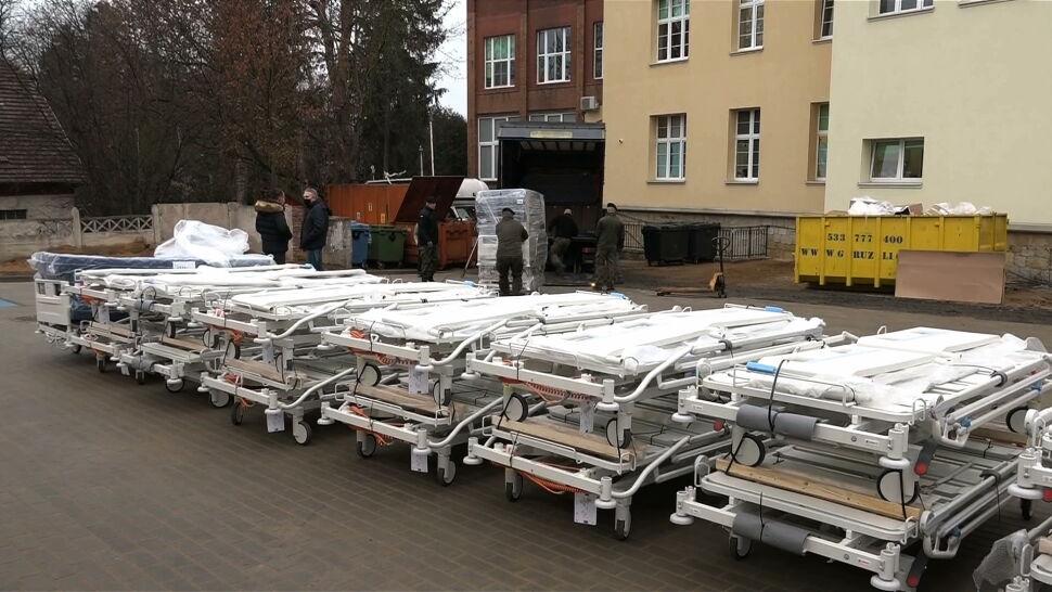 Szpital modułowy w Bolesławcu otwarty