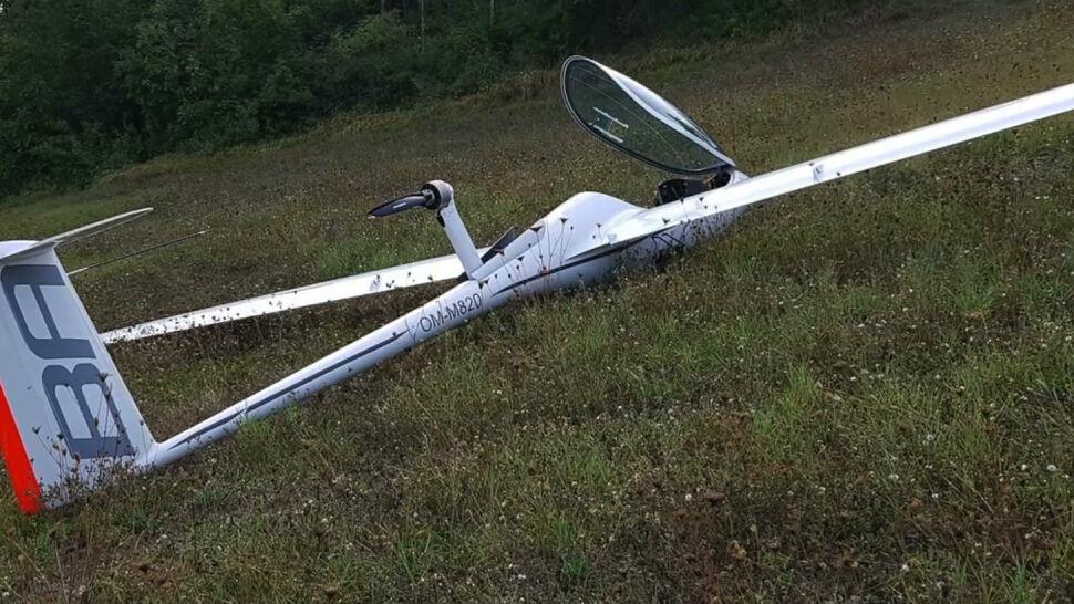 Wypadek polskiego pilota przed zawodami szybowcowymi. Jego samolot uległ uszkodzeniu