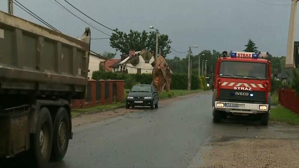 Trąba powietrzna w Małopolsce. Strażacy potrzebują pomocy