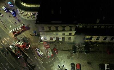 Pożar na Dworcu Świebodzkim we Wrocławiu