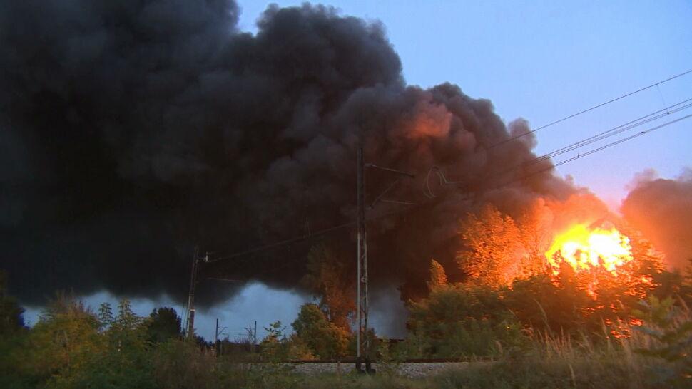 Wielki pożar w Sosnowcu. Płonęło nielegalne składowisko odpadów