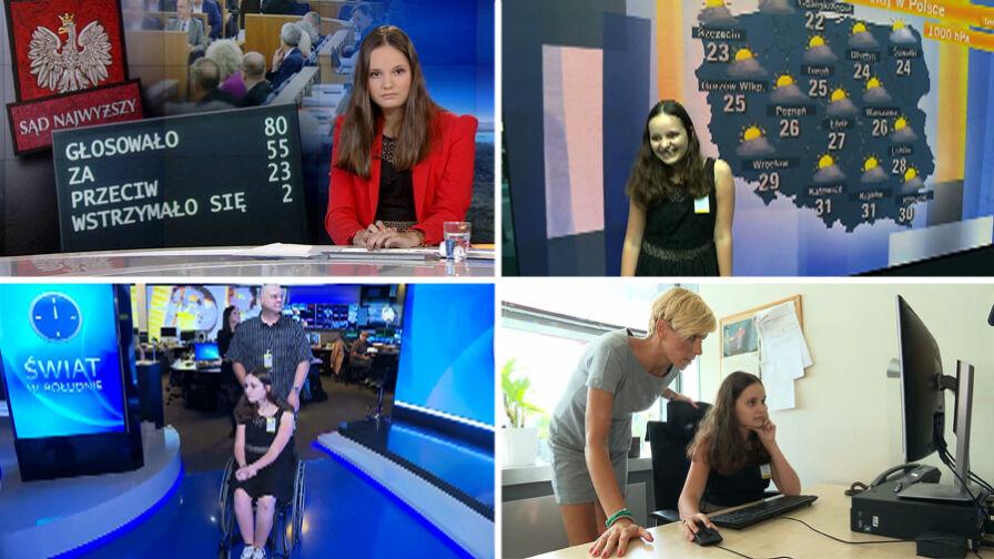 """Chora 14-latka chciała poprowadzić """"Fakty"""" TVN. Marzenie spełnione"""