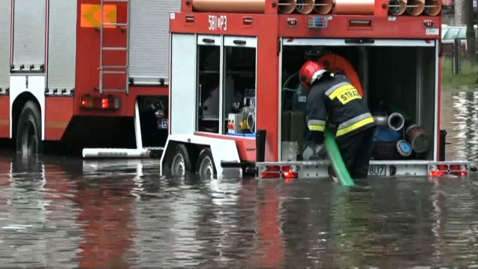 Potężne ulewy w Polsce. Kilkaset interwencji strażaków