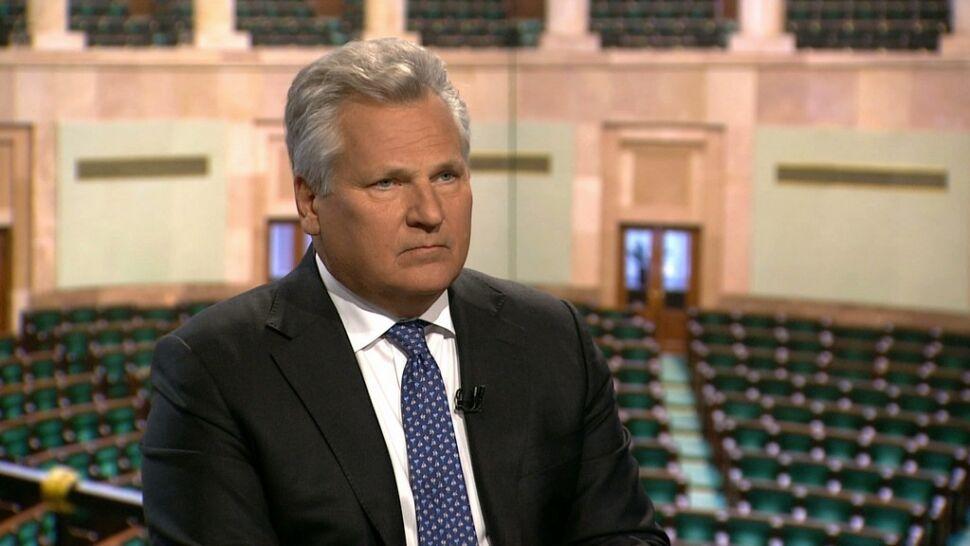 26.11 | Kwaśniewski: Brak unijnej flagi to ciężka głupota. Unia chroniła Europę przed wojnami