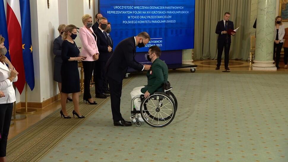 Prezydent Andrzej Duda odznaczył polskich medalistów paraolimpijskich
