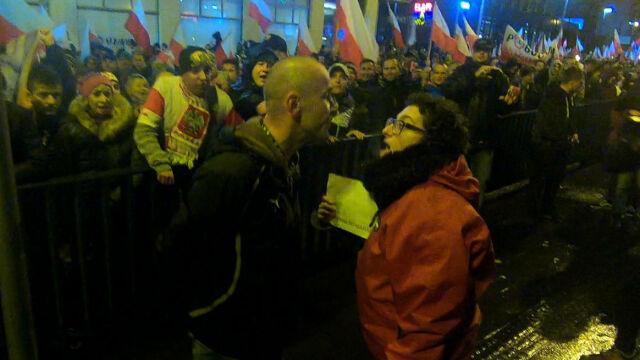 Incydenty na marszu narodowców we Wrocławiu. Na czele szli Piotr Rybak i Jacek Międlar