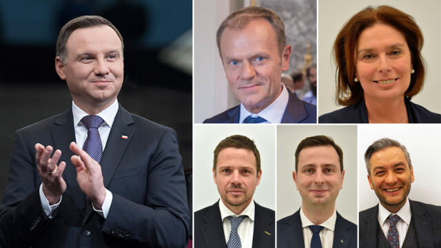 Andrzej Duda versus potential opposition candidates for president