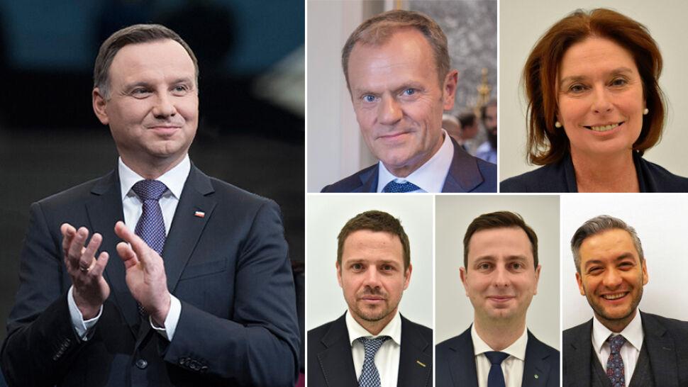 """Andrzej Duda i kontrkandydaci z opozycji. Sondaż prezydencki dla """"Faktów"""" TVN i TVN24"""