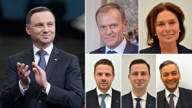 """Andrzej Duda i kontrkandydaci opozycji. Sondaż dla """"Faktów"""" TVN i TVN24"""